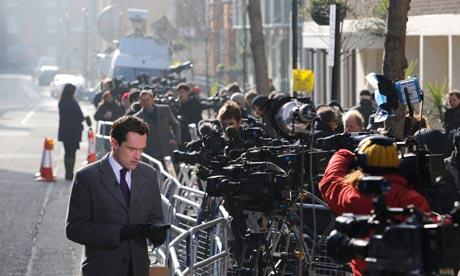 Media outside King Edward VII hospital