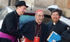 Ralph Napierski (L), a fake bishop poses