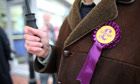 Ukip supporter in Eastleigh