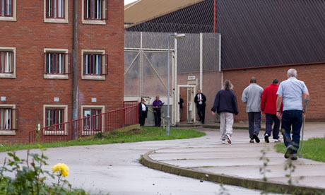 Prisoners on exercise