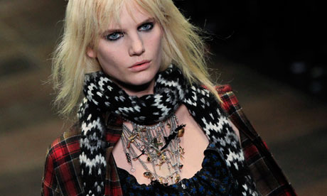 Hedi Slimane's Saint Laurent show at Paris fashion week.
