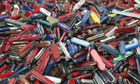 Knives discarded at security checkpoints at  Atlanta International Airport
