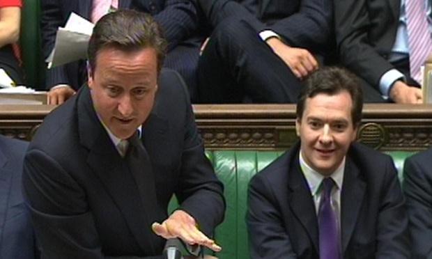 David Cameron at PMQs.