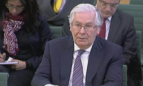 Sr Mervyn King at the Banking Standards Commission