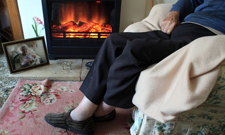 Elderly person in an armchair