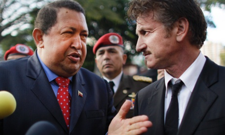 Hugo Chavez with Sean Penn