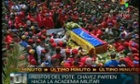 Hugo Chavez coffin in Caracas