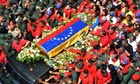 Hugo Chavez view of the hearse carrying the coffin