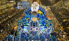 Revelers of Portela samba school perform