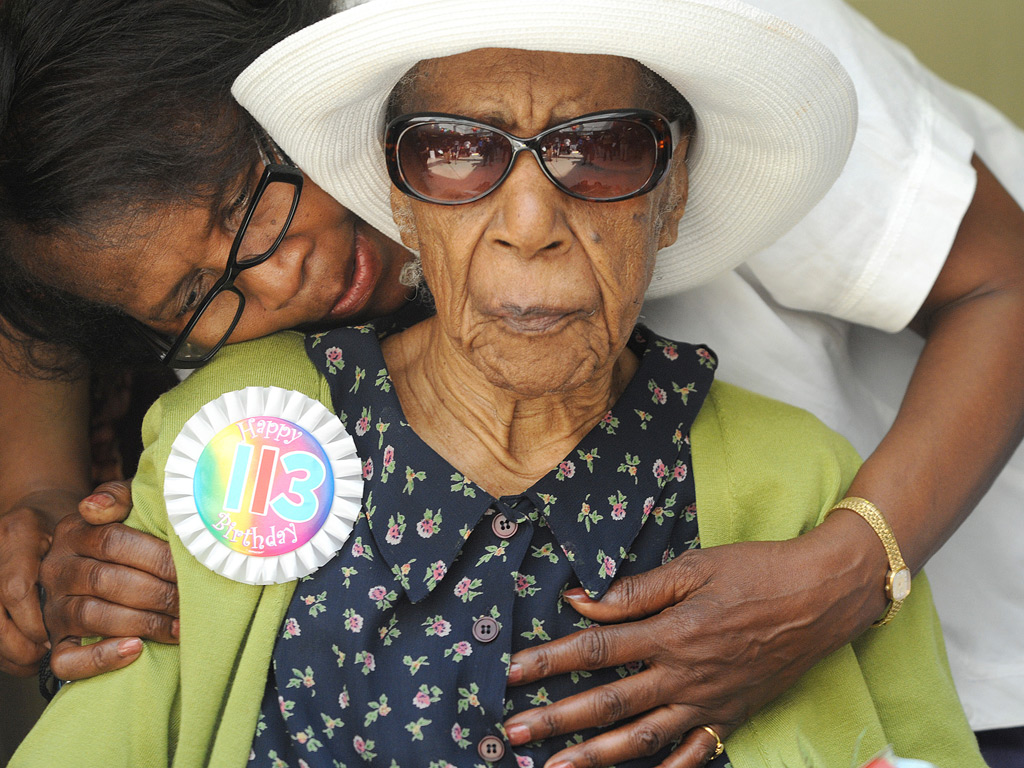 Susannah Mushatt Jones celebrates her 113th birthday in New York