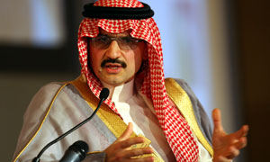 File photo of Saudi Prince Alwaleed bin Talal
