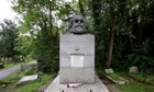 The tomb of Karl Marx in Highgate Cemetery, London, Britain - 2007