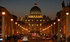 Vatican city night