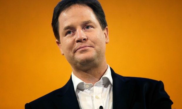 Nick Clegg makes a speech during the opening day of the Liberal Democrat spring party conference on March 8, 2013 in Brighton.