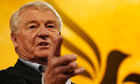 Paddy Ashdown speaks at the