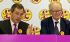 Nigel Farage and Stuart Wheeler