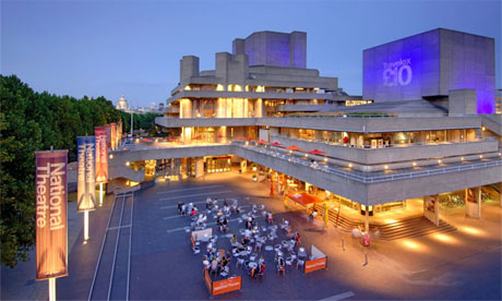 The National Theatre at dusk