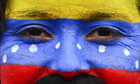 A supporter of Nicolas Maduro