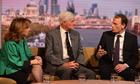 Andrew Marr says lucky to be alive, in first TV appearance since stroke