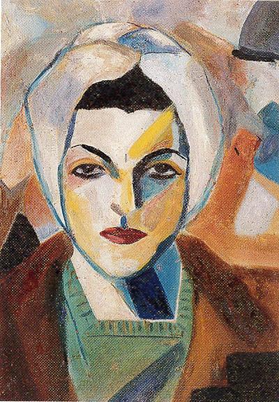 Saloua Raouda Choucair: Self Portrait 1943