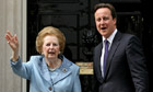 David Cameron and Margaret Thatcher
