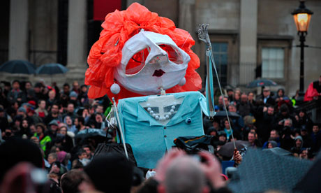 Margaret Thatcher effigy