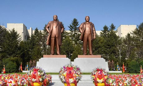 North Korea Uses Heavy Deification In Its Iconography.