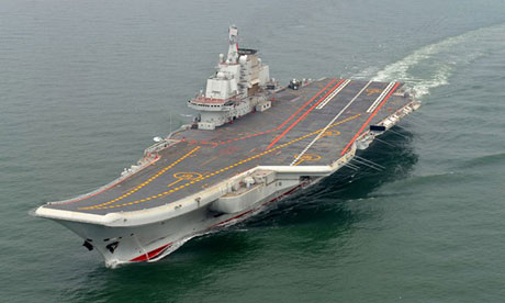 China's only aircraft carrier, the Liaoning, a refitted ex-Soviet ship