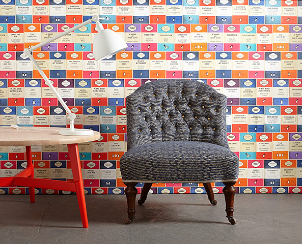 Grey Upholstered Chair On