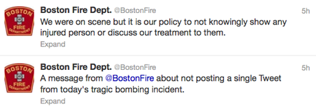 Boston fire tweet