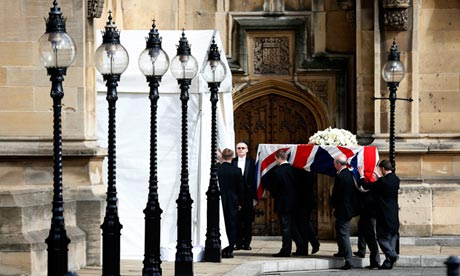 Margaret Thatcher coffin