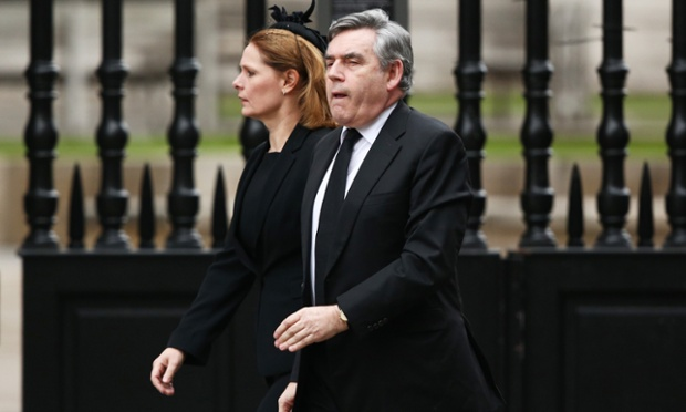 Former Prime Minister Gordon Brown with his wife Sarah.