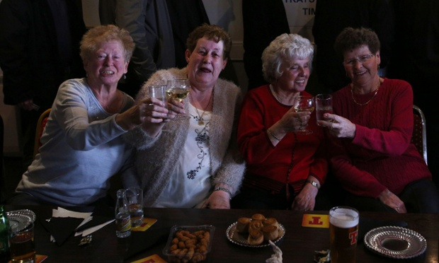 Another country, another wake: locals at Danderhall Miners Club Scotland hold a celebration party to mark the funeral of Lady Thatcher.