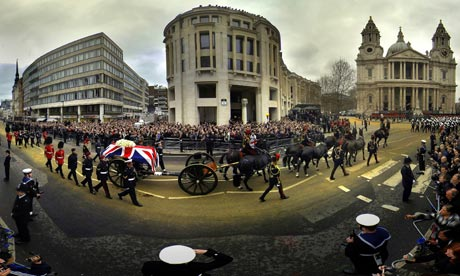 Baroness Thatcher funeral Ludgate Hill