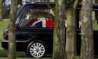 hearse margaret thatcher coffin