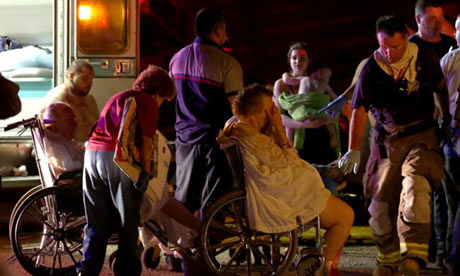Residents are evacuated from a nursing home that was extensively damaged by a Texas explosion