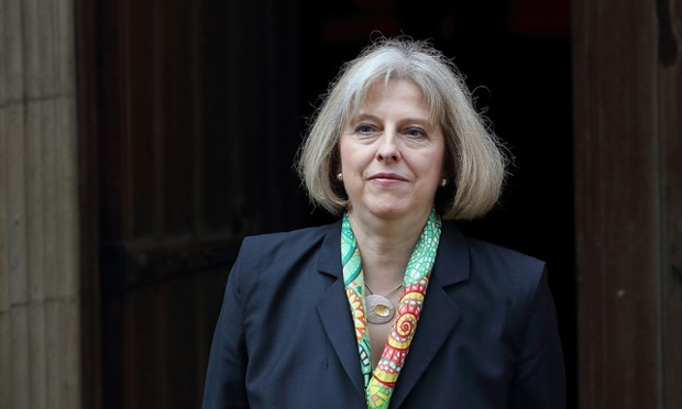 Theresa May, the home secretary, is giving evidence to the Commons home affairs committee.