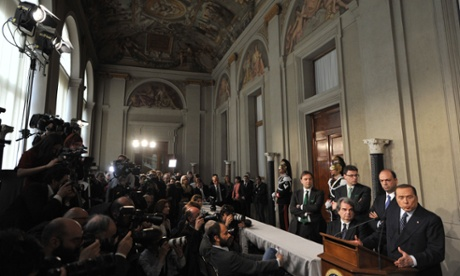 Berlusconi, leader of centre-right PDL party gave a press conference after a meeting with Italy's president last week.