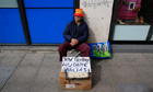 Unemployed Juan Bayes resorts to begging in Seville