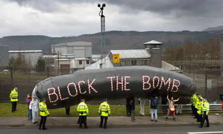 Faslane anti Trident demo