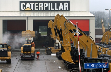 A parking lot at Caterpillar Belgium, in Gosselies, Belgium.