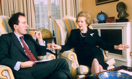 Charles Moore and Margaret Thatcher, 1995