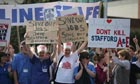 Demonstrators back Mid-Staffs Hospital