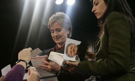 Hillary Clinton with Huma Abedin 2008