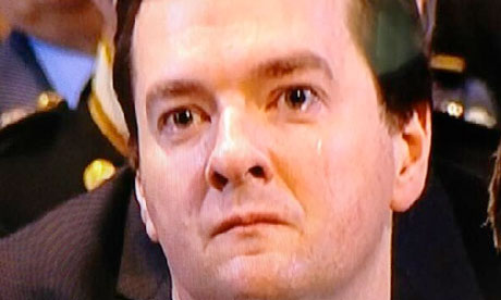 George Osborne at Lady Thatcher's funeral