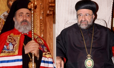 Bishop Boulos Yazigi of the Greek Orthodox Church, left, and Yohanna Ibrahim of the Assyrian Orthodox Church, right, who were kidnapped Monday, in the northern province of Aleppo, Syria. The fate of two priests who were reportedly kidnapped on Monday in the northern province of Aleppo is still unknown.