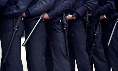 Metropolitan police officers undergoing public order training duties London England UK