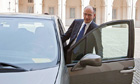 Enrico Letta gets into his car after being appointed premier by the president, Giorgio Napolitano