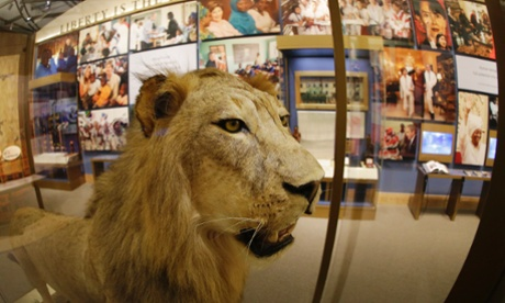 bush library lion