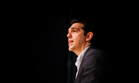 Syriza leader Alexis Tsipras at a rally during a two day visit to Portugal. Photograph: EPA/Manuel de Almeida